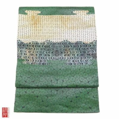 正絹 服部織物 こはく錦 袋帯