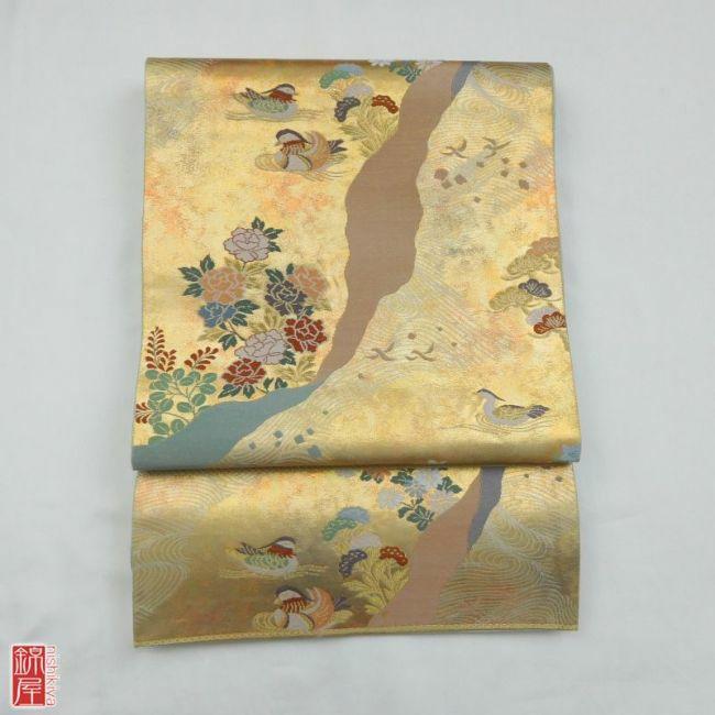 正絹 袋帯 六通柄_画像1