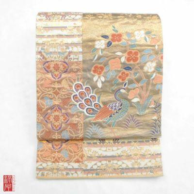袋帯 六通柄 正絹 白地に花柄や人物・動物柄