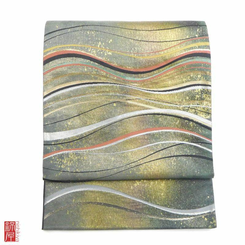 袋帯 六通柄 正絹_画像1