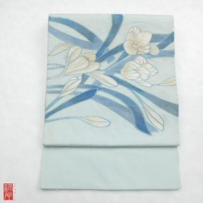 袋帯 紬 太鼓柄 正絹