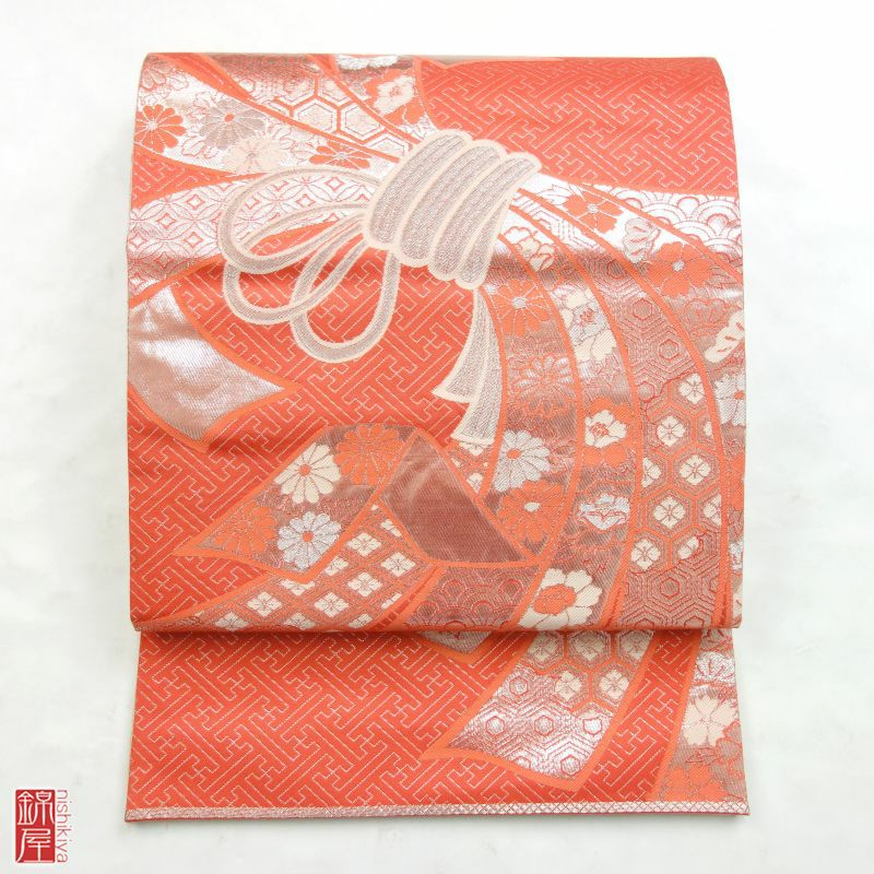 袋帯 リバーシブル 全通柄 正絹 良品_画像1