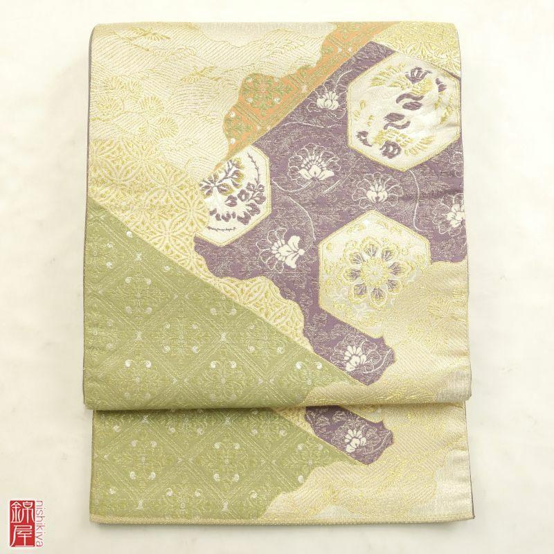 袋帯 「正倉院宝華文」 リバーシブル 六通柄 正絹 良品_画像1
