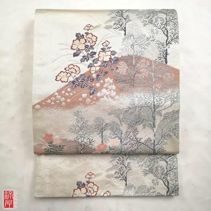 袋帯 六通柄 正絹 良品_画像1