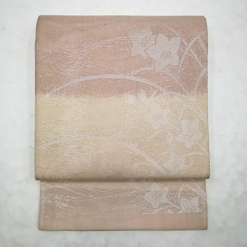 夏用 紗 袋帯 六通柄 正絹
