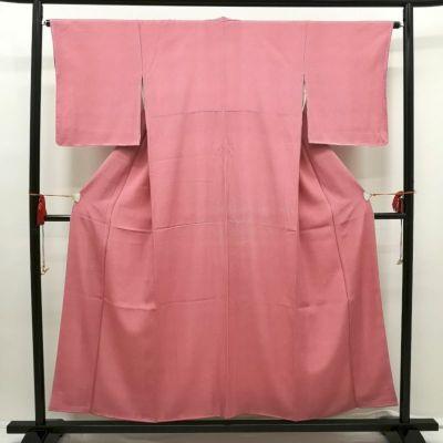 江戸小紋 鮫小紋 正絹 美品 ピンク地に古典柄