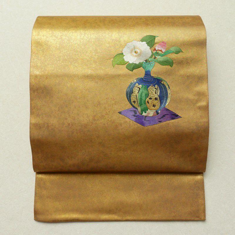 袋帯 太鼓柄 刺繍 美品 フォーマル用 正絹 古典柄 金・銀_画像1