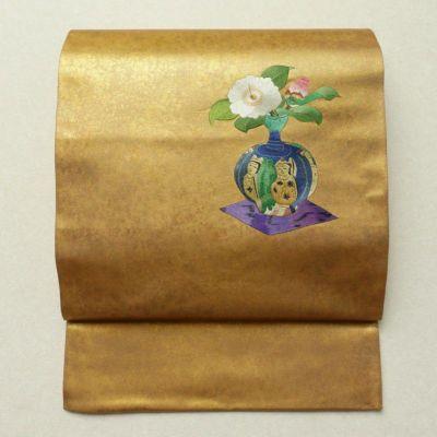 袋帯 太鼓柄 刺繍 美品 フォーマル用 正絹 古典柄 金・銀